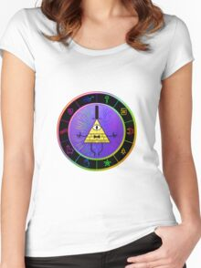 Gravity Falls Bill Cipher Wheel ~ Party Time Women's Fitted Scoop T-Shirt