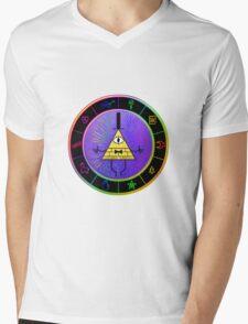 Gravity Falls Bill Cipher Wheel ~ Party Time Mens V-Neck T-Shirt
