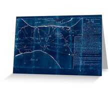 American Revolutionary War Era Maps 1750-1786 633 Notes sur les environs de York Inverted Greeting Card
