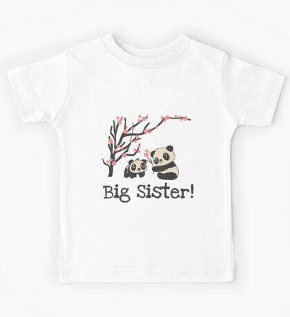 Panda Bears Big Sister Kids Tee
