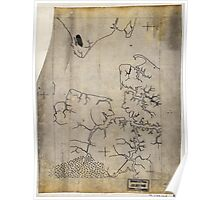 058  Outline map of Hampton Roads and the vicinity of Norfolk Va Poster