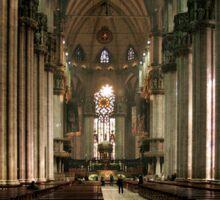Interior of Il Duomo, Milan Italy Sticker