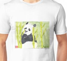 Lonely Panda in Bamboo Unisex T-Shirt
