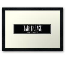 Babe Garage Sticker Slap Framed Print