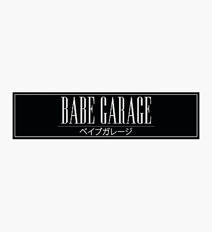 Babe Garage Sticker Slap Photographic Print