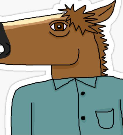 Horse Man Sticker