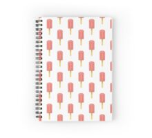 Cute Pixel Summer Strawberry Popsicles/ Ice Lollies Spiral Notebook