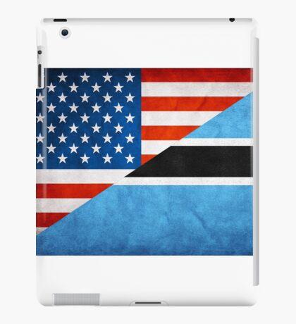 Half Botswana Half American Flag iPad Case/Skin