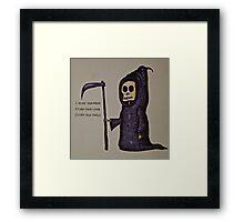 Sowing Season Reaper Framed Print