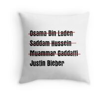 Funny Hit List Throw Pillow