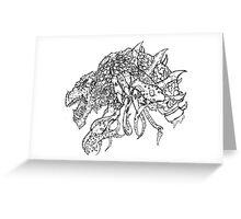 Mutated Elder Gold Dragon Greeting Card