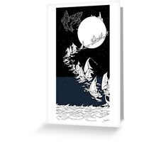 Sail to the Moon Greeting Card