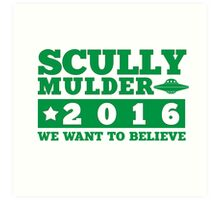 Scully & Mulder Campaign 2016 Art Print