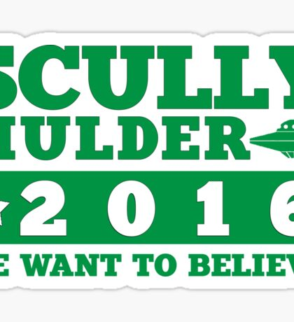 Scully & Mulder Campaign 2016 Sticker
