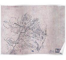103  Sketch of the vicinity of McDowell Va Poster