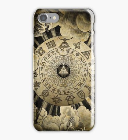 Gravity Falls Bill Cipher Wheel ~ Ancient Glyphs Gifts Presents iPhone Case/Skin
