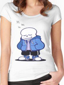 Undertale Sans sleeping shirt. Women's Fitted Scoop T-Shirt