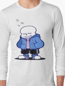 Undertale Sans sleeping shirt. Long Sleeve T-Shirt