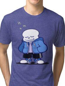 Undertale Sans sleeping shirt. Tri-blend T-Shirt