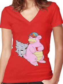 Brah The Slobro Women's Fitted V-Neck T-Shirt
