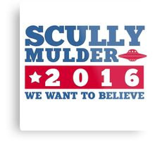 Scully & Mulder Campaign 2016 Metal Print