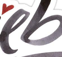 Liebe Love Hertz Heart Modern Schönschrift Schöne Schrift Calligraphy Lettering Sticker