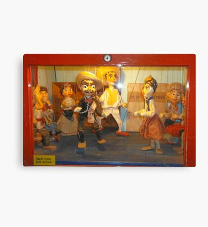 Puppets On A String Canvas Print