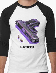 Bones Pixel Gun Men's Baseball ¾ T-Shirt