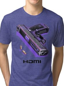 Bones Pixel Gun Tri-blend T-Shirt