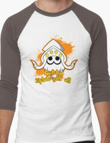 Gotta Splat em' all! Orange Men's Baseball ¾ T-Shirt