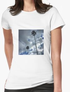 Palm Trees & Clouds Womens Fitted T-Shirt