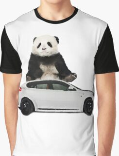 White X6 Look Like A Panda Graphic T-Shirt
