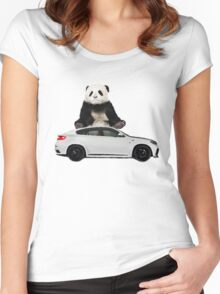 White X6 Look Like A Panda Women's Fitted Scoop T-Shirt