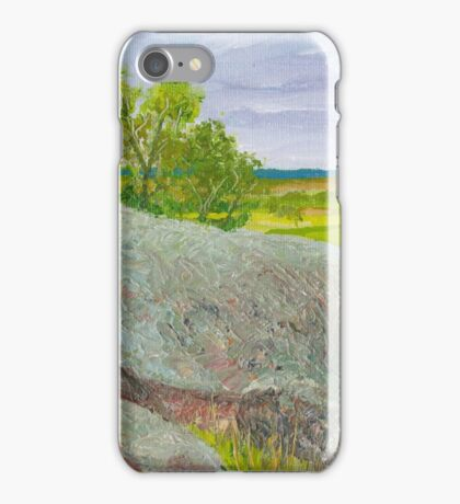 Bushranger Dan Morgan's granite boulder lookout iPhone Case/Skin