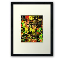 Bright Autumn Colours Collage Framed Print