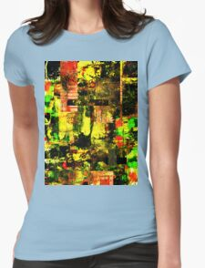 Bright Autumn Colours Collage Womens Fitted T-Shirt