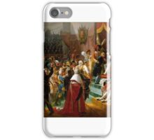 Jean Baptiste Debret - First distribution of the Legion of Honor at the Eglise des Invalides, by the Emperor, iPhone Case/Skin