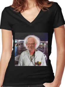 Bern To The Future Women's Fitted V-Neck T-Shirt