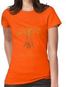 Vitruvian Artist - Gold and Black Series Womens Fitted T-Shirt
