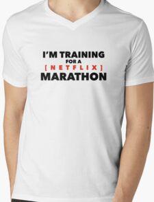 (Netflix) marathon Mens V-Neck T-Shirt