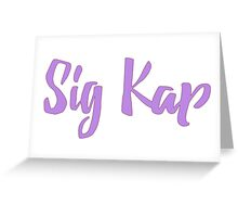Sigma Kappa Greeting Card