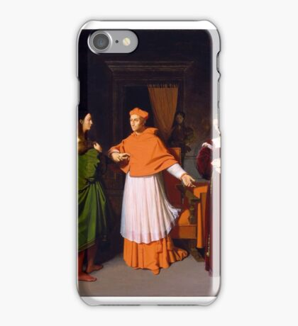 Jean-Auguste-Dominique Ingres - The Betrothal of Raphael and the Niece of Cardinal Bibbiena iPhone Case/Skin