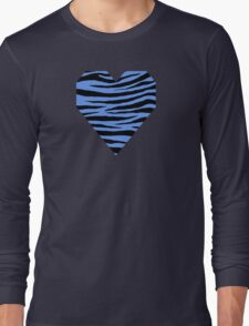 0153 Cornflower Blue Tiger Long Sleeve T-Shirt