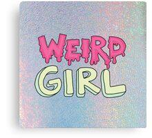 Weird Girl 90s feminist pastel tumblr grunge trending print Canvas Print
