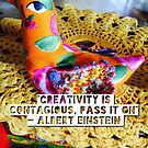 Art is contagious by ART PRINTS ONLINE         by artist SARA  CATENA