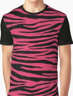 0120 Cerise or Cherry Tiger Graphic T-Shirt