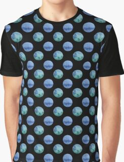 seamless watercolor pattern with drops in blue and green color.  Graphic T-Shirt