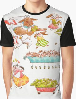 Bustling Bunnies  Graphic T-Shirt