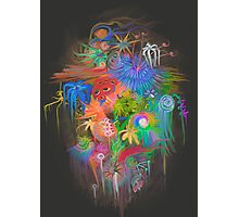 Space Flowers Photographic Print