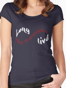 Long Live The Commander - White Women's Fitted Scoop T-Shirt